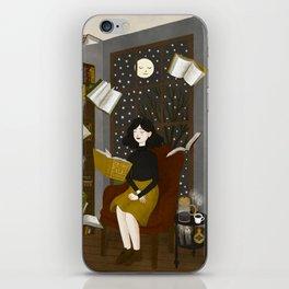 floating books iPhone Skin