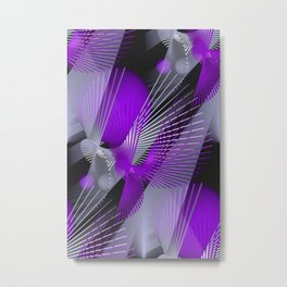 3D - abstraction -124- Metal Print