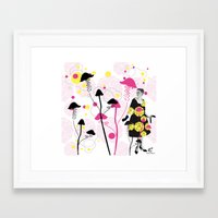 mushroom Framed Art Prints featuring Mushroom by Emilie Ramon