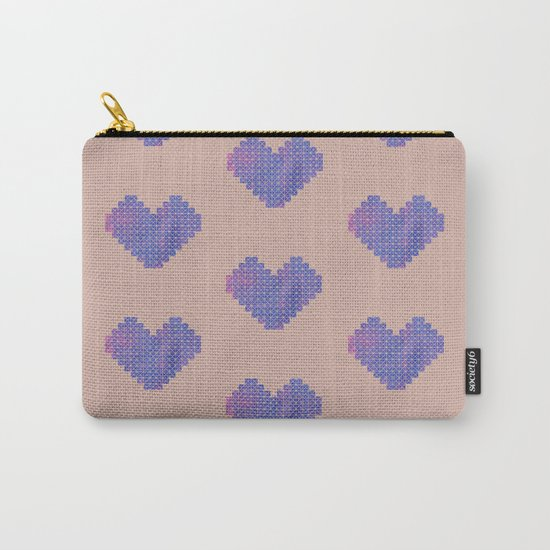 Heart X Purple Carry-All Pouch