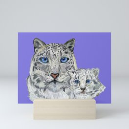 Snow Leopards Mini Art Print