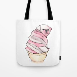 Icecream Puppy Tote Bag