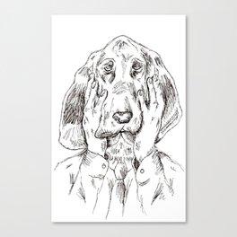 Sad Bloodhound Canvas Print