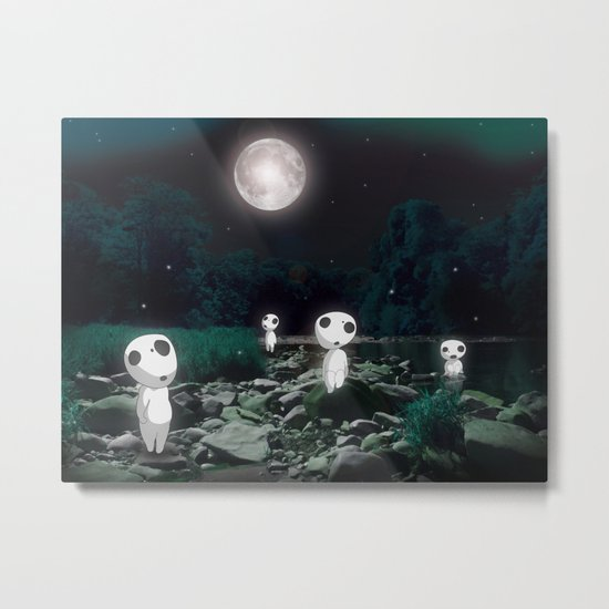 Forest Spirits (Kodama)   Metal Print