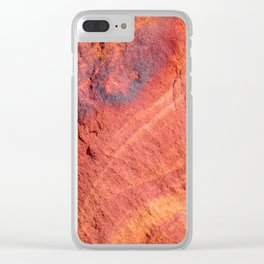 Natural Sandstone Art - Valley of Fire Clear iPhone Case