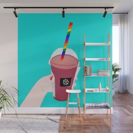 Salted Caramel Raspberry Ice Frappe Wall Mural