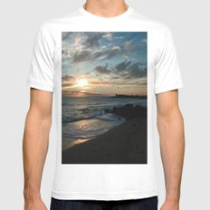 Sunrise over Bass Strait - Tasmania - Australia Mens Fitted Tee White SMALL