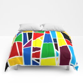 Geometric Shapes - bold and bright Comforters