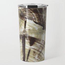 Concentric Log Abstract Travel Mug