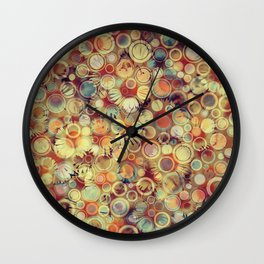 Dots on Flowers Wall Clock