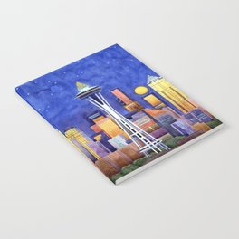 Space Needle Lights Notebook