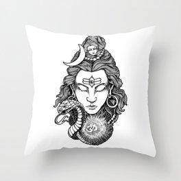 LORD SHIVA Throw Pillow