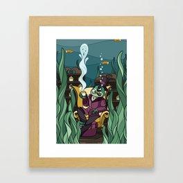 Pipe Smoke, Tea Leaves Framed Art Print