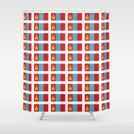 Flag of Mongolia - Monggol Ulus, Mongolian, Монгол Улс,Mongol,Ulaanbaatar Shower Curtain