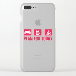 Motorcycle beer Tits Simple Man Gift Clear iPhone Case