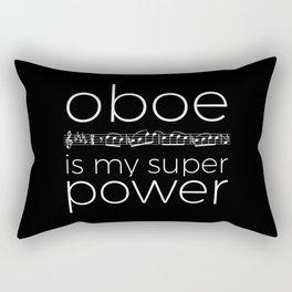 Oboe is my super power (black) Rectangular Pillow