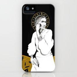 Black and White Goddess iPhone Case