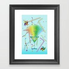 STRAWS Framed Art Print
