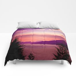 Sunset Sea to Sky Comforters