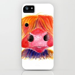 Scottish Highland Cow ' HeRbiE ' by Shirley MacArthur iPhone Case