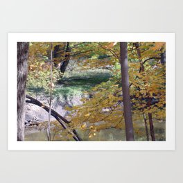 Fall By The Creekside Art Print