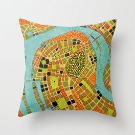 cypher number 19 - koblenz (ORIGINAL SOLD). Throw Pillow