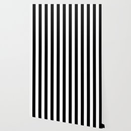 Black & White Vertical Stripes - Mix & Match with Simplicity of Life Wallpaper