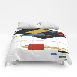 Geometric Abstract Malevic #9 Comforters