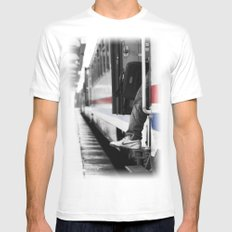 travel Mens Fitted Tee SMALL White