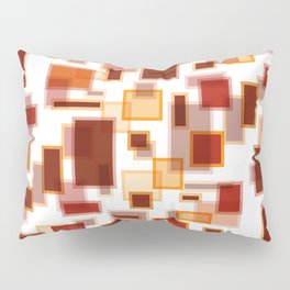 Red Abstract Rectangles Pillow Sham