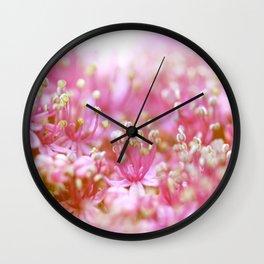 Pretty Pink Flowers Near the Beach  #decor #society6 #buyart Wall Clock
