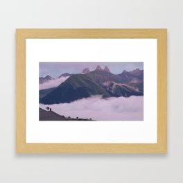 Mountains in the clouds Framed Art Print