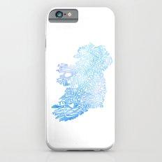 Typographic Ireland - Blue Watercolor Slim Case iPhone 6s