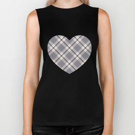 big light weave monochrome Biker Tank