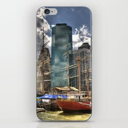 NYC Harbor, south seaport iPhone Skin