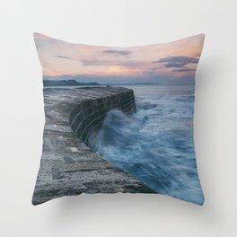 Sunset Over the Cobb II Throw Pillow