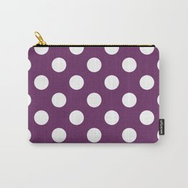 Palatinate purple - violet - White Polka Dots - Pois Pattern Carry-All Pouch
