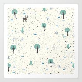 Moose on the meadow Art Print