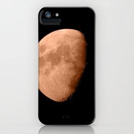 4K Dark Side of the Moon Blood Orange iPhone Case