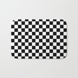Small Checkered - White and Black Bath Mat