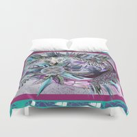 manchester Duvet Covers featuring Manchester whirl by Sabah