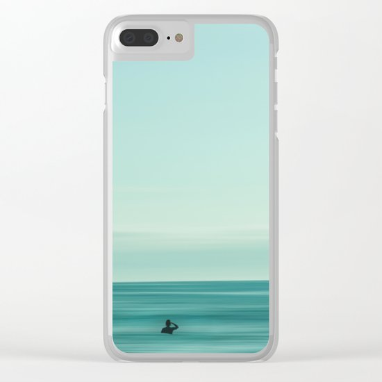 Man in the sea Clear iPhone Case