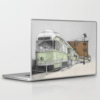 hook Laptop & iPad Skins featuring Red Hook by Lane Scarano