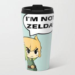 I'm not Zelda! (link from legend of zelda) Metal Travel Mug