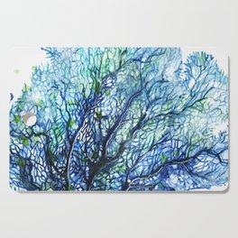Fan Coral - Aqua Cutting Board