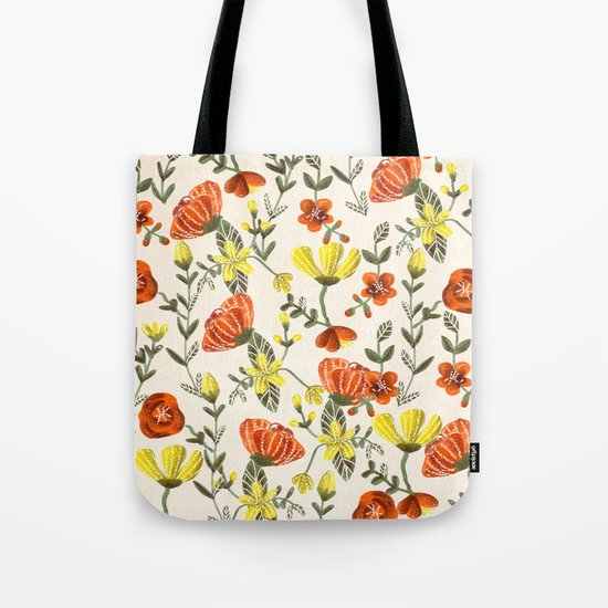 Colorful Garden Pattern Tote Bag