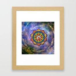 Jerry Hand in a Daisy Mandala Framed Art Print