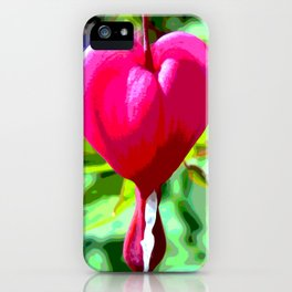 Crying heart iPhone Case