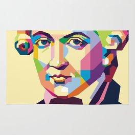 Immanuel Kant in Pop Art Rug