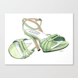 Green Straps Canvas Print